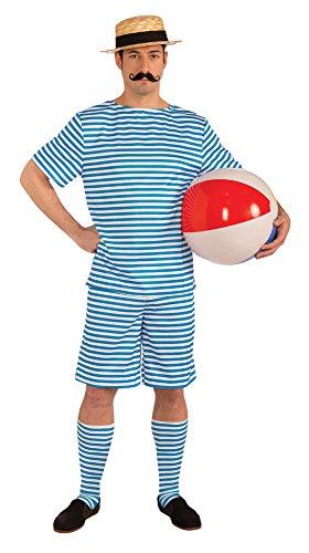 Forum Novelties- Clyde Am Strand Badeanzug Kostüm, Weiß Disfraz, Color Blanco, 42-44-inch (72096)