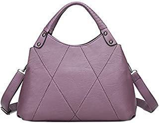 TOOGOO European And American Fashion Stitching Ladies Leather Handbag Messenger Bag Shoulder Bag Black