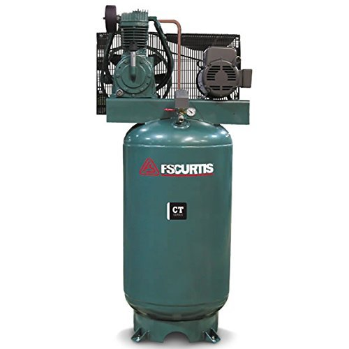 FS-Curtis CT5 5HP 60-Gal Vert 2-Stage Air Compressor w/ thermal overload in place of starter (230V 1-Ph)
