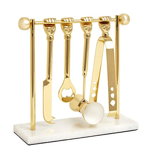 Jonathan Adler Barbell Barware Set
