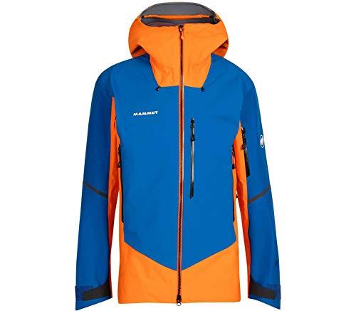Mammut Giacca con cappuccio Nordwand Pro Hs Giacca da uomo, Uomo, giacca, 1010-28050_XXL, arancione (arumita), azzurro (azurit), XXL