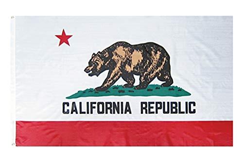 アメリカンフラッグ★カリフォルニア州旗★3x5ft (90x150cm)california USAサーフ