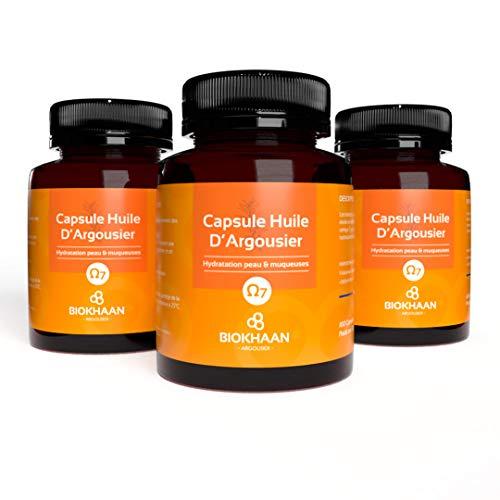 PACK OMEGAS COMPLETS 3-6-7-9 - Huile Argousier Pure BIO - Pression à froid - Sans OGM - 300 Gélules