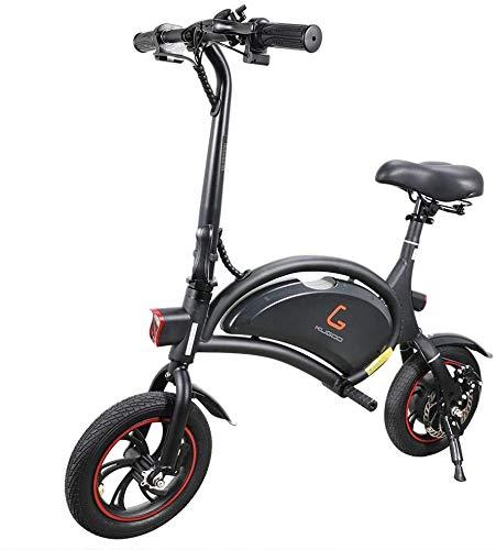 Bici Elettrica Pieghevole per Adulti, KUGOO B1 Monopattino Elettrico Motore 250W, 12 Pollici Pneumatici di Gomma,velocità Massima 25km/h, Controllo App, Fari per Sicurezza.