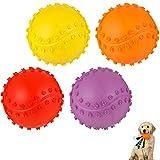 umorismo Paquete de 4 bolas de juguete para mascotas con sonido, no tóxicas para cachorros