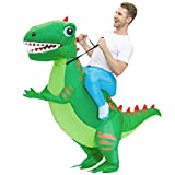 Kooy Dinosaur Costume Inflatable Costume Adult Funny Fancy Dress Blow Up Halloween Costumes (Green A)