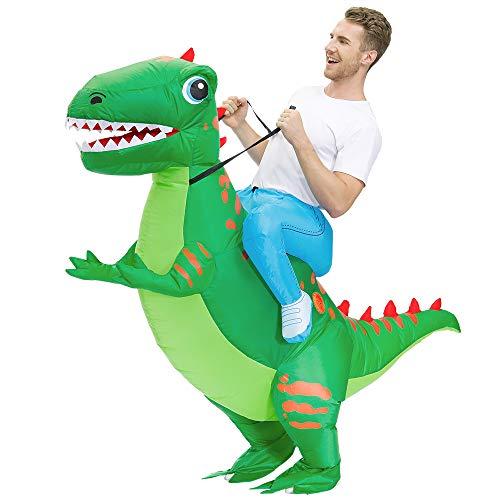 KOOY Inflatable Dinosaur Costume Inflatable Costume For Men T-REX dinosaur Costumes Adult Halloween...