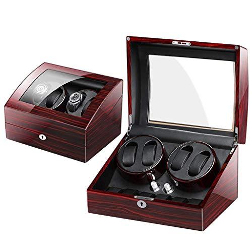 JDSTG Watch Box, Wood Watch Box Organizzatore di visualizzazione Fuuml;r 4 Scatola portaoggetti per Polsini e Orologi da Uomo (Colore: B)