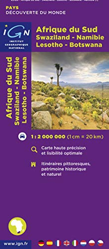 South Africa / Swaziland / Lesotho 2007: Ign.M.P.85120 (Carte touristique)