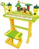XINRUIBO Heng simulado Teclado electrónico Playset Multifuncional Instrumentos Musicales de Juguete con micrófono para niños Piano Infantil (Color : B)