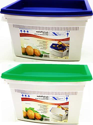 Kartoffelbox mit praktischer Deckelschale