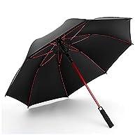 【ALSINA】傘 長傘 メンズ レディース ジャンプ傘 晴雨兼用 uvカット 120cm 90cm 黒 赤 雨傘 長傘 ジャンプ式 (レッドブラック)