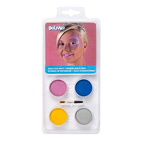 Boland Maquillage tablette 4 couleurs princesse, multicolore, 545042
