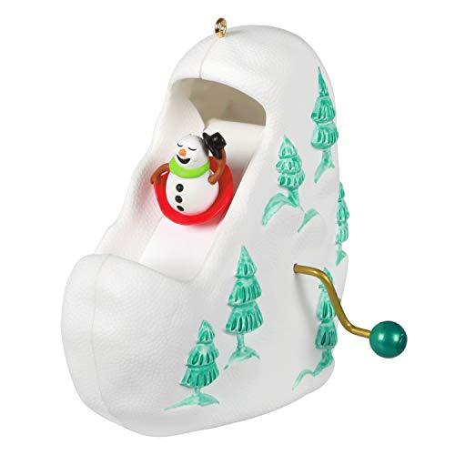 Hallmark Keepsake Christmas Ornament 2020, Sledding All the Way Snowman, Reindeer and Penguin, Motion