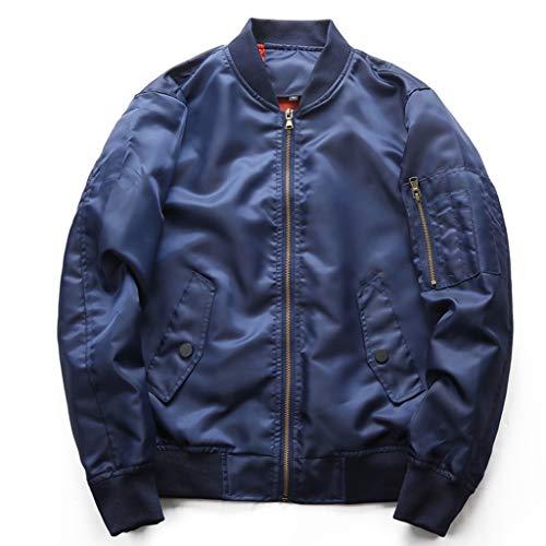 Lixiyu bomberjack heren lichte rits jas mantel flight bomber jas comfortabel vintage tooling jas