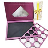 Coosei glitter Violet eyeshadow palette empty diamond magnetic big makeup eye shadow storage box with removable isolation pad large size