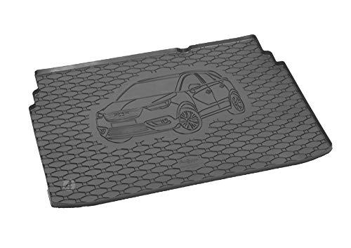 Passgenau Kofferraumwanne geeignet für Opel Crossland X ab 2017 ideal angepasst schwarz Kofferraummatte + Gurtschoner