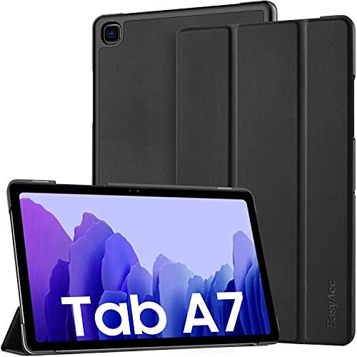 EasyAcc Funda Compatible con Samsung Galaxy Tab A7 10.4 2020, Ultra Slim PU Protectora Carcasa con Función de Soporte Compatible con Samsung Galaxy Tab A7 10.4 2020 SM-T500/SM-T505, Negro