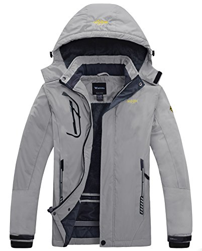 Wantdo Ski Jassen voor Heren Regenjassen Capuchon Waterdicht Winter
