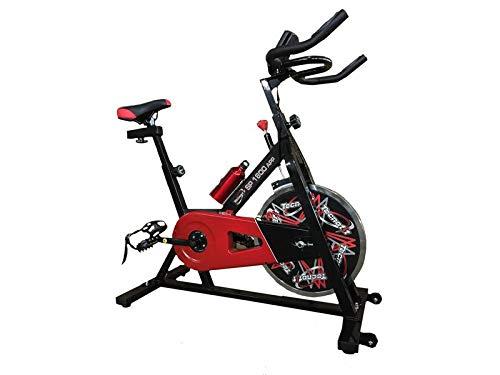 TECNOFIT Indoor Cycle SP 1800 con volante de inercia de 20 kg Bluetooth App I Console Kinomap