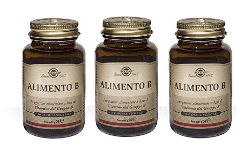 SOLGAR - ALIMENTO B 3 CONFEZIONI DA 50 TAVOLETTE-Integratore alimentare a base di Vitamine del Gruppo B (B1, B2, B3, B6, B8, B12)