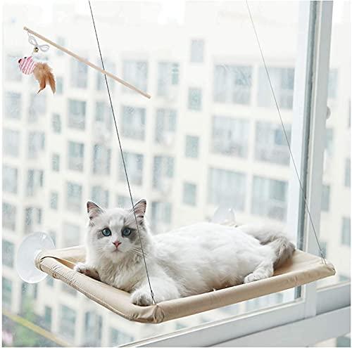 TYSJL Amaca di Gatto Amaca Rettile con Corda a Filo di aspirazione, Piccola Poltrona per Animali Domestici per Finestra, Sole a 360 Gradi, portante 33 sterline