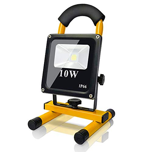 Karpal 10W 900LM LED Baustrahler IP66 Wasserdicht LED Arbeitsleuchte Bauscheinwerfer 6000K Kaltweiß Arbeitsscheinwerfer Strahler Fluter für Werkstatt, Baustelle, Garage
