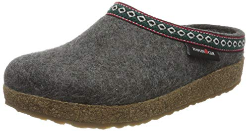 HAFLINGER Pantofole Franzl 71100104 Grigio Antracite in Feltro Lana 37
