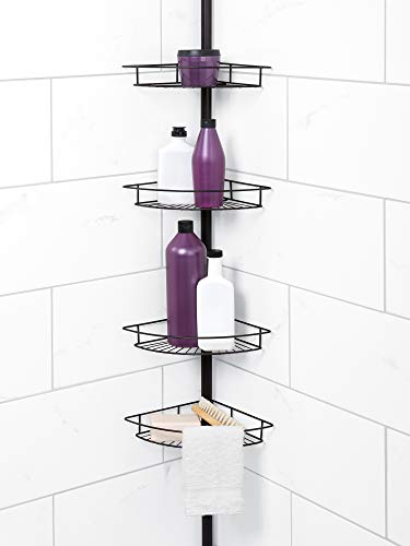 Lowest Price! Zenna Home Tension Pole Shower Caddy, Bronze