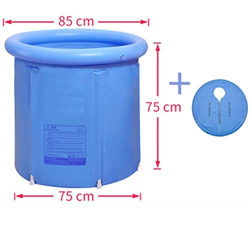 Draagbare Plastic Badkuip Groot, Badkuip voor douchecabine, Opblaasbaar Flexibel Volwassen Grootte Opvouwbaar Blauw