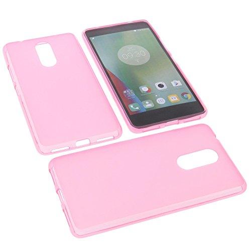 foto-kontor Custodia per cellulari Lenovo K6 Note in Gomma TPU di Colore Rosa