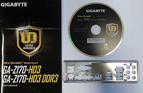 Gigabyte GA-Z170-HD3 - Handbuch - Blende - Treiber CD