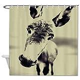 DKISEE Lustiger Esel Hintergr& Duschvorhang Dekorativer Stoff Badvorhang mit Haken für Badezimmer Dekor 182,9 x 182,9 cm