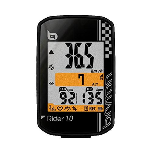 Bryton Rider 10 GPS Ciclismo, Negro, Talla Única