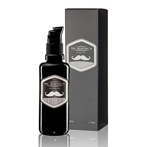 Mr. Burton´s Shaving Oil - 50ml Rasieröl zur sanften traditionellen Rasur verhindert Hautreizungen, pflegt mit Arganöl,duftneutral
