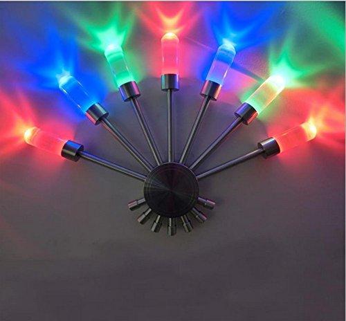 Décoration de mur en forme d'éventail coloré lampe salon lumière Night Bar Dancer KTV atmosphère lampe LED lampe murale , 1