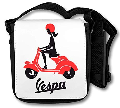 Vespa Black Girl Logo Schultertasche