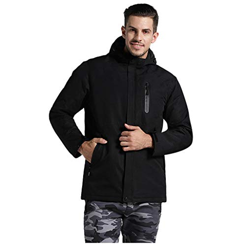 Purchase Seaintheson Men's Slim Fit Heated Jacket,Washable USB Charging Heating Warm Down Cotton Jac...