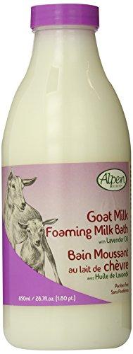 Alpen Secrets Goat Milk Foaming Milk Bath with Lavender Oil, 28.7-Fluid Ounce (Pack of 2)
