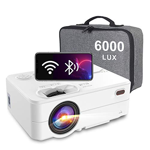 Mini Proiettore WiFi Bluetooth, Artlii Enjoy2 - 6000 Lm Videoproiettore Portatile Nativo 720P, Proiettore per Smartphone, con Borsa Portatile, 300' Home Cinema per iOS/Android/TV Stick/Laptop/PS4