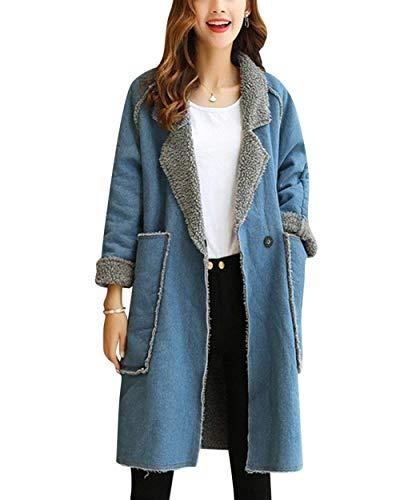 HaiDean Dames Outerwear herfst winter mode elegante mantel lange mouwen revers jongens C
