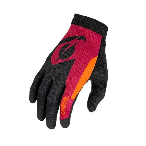 O'NEAL   Fahrrad- & Motocross-Handschuhe   MX MTB DH FR Downhill Freeride   Unser leichtester & bequemster Handschuh, Nanofront®- Handpartie   AMX Glove   Erwachsene   Rot Orange   Größe S
