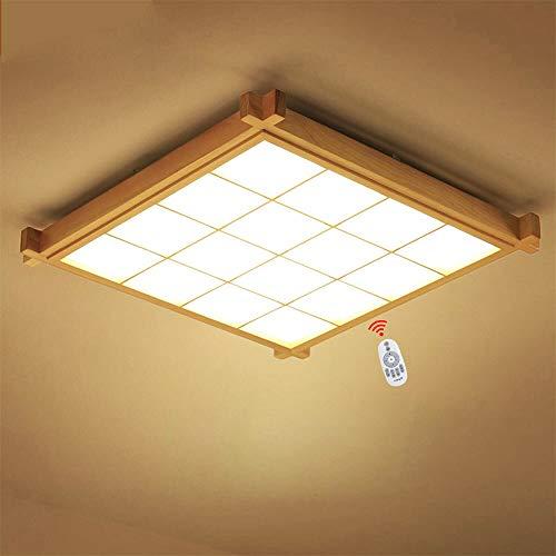 Wandun Luz de Techo, Las lámparas japonesas llevaron la lámpara de la Sala de Estar de la lámpara del Techo lámpara de Tatami de la luz de Control Remoto Creativa Ultrafina Rectangular del Dormitorio