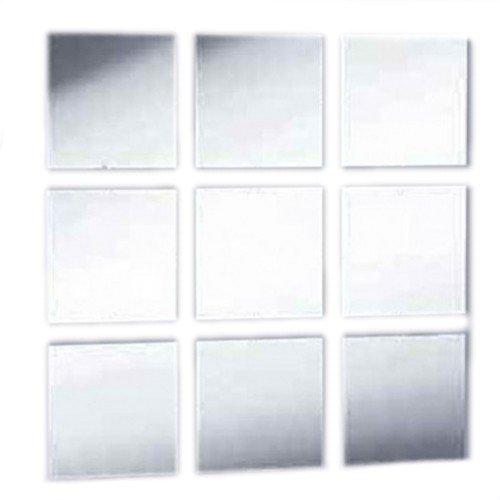 Super Cool Creations Spiegel Fliesen Pack von zehn–10x 10cm quadratisch Fliesen 3mm dick