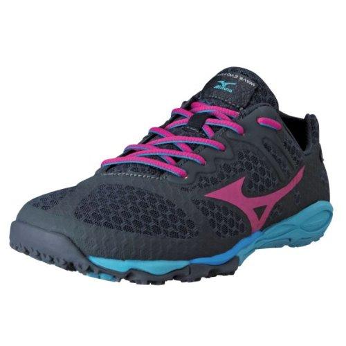 Mizuno Women's Wave Evo Ferus Running Shoe,Dark Shadow/Beetroot,11 B US
