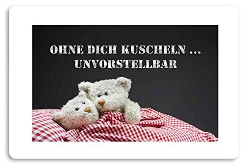 Creativ Deluxe Ohne dich knuffelen - onvoorstelbaar deurmat bedrukt deurmat binnenmat vuilmat grappig motief voetmat