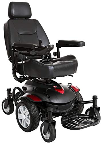 Drive Devilbiss Titan AXS Mid Wheel Drive Powerchair – Motorized Electric Wheelchair for Adults (Spirit Red)