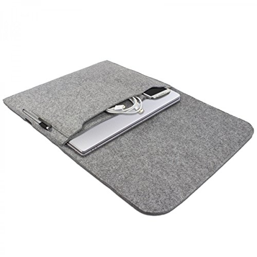 eFabrik Hülle für Lenovo U330p (13,3 Zoll HD LED) Notebook Schutz Tasche Laptop Hülle Soft Cover Schutzhülle Sleeve Filz hell grau