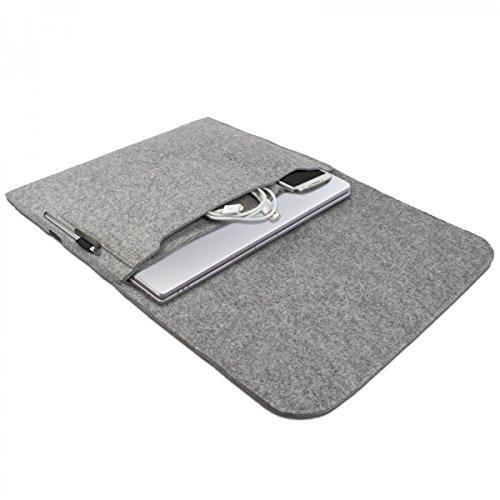eFabrik Hülle für Lenovo U330p (13,3 Zoll HD LED) Notebook Schutz Tasche Laptop Case Soft Cover Schutzhülle Sleeve Filz hell grau
