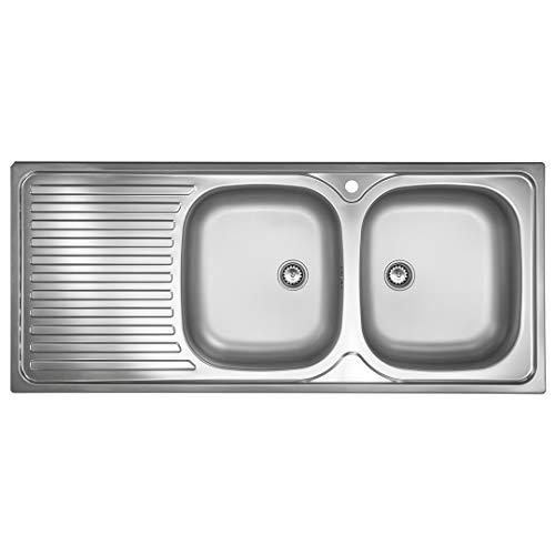 Doppelbeckenspüle ED 500 Plus R Edelstahl-Spüle 2 Becken Spülbecken Doppelbecken